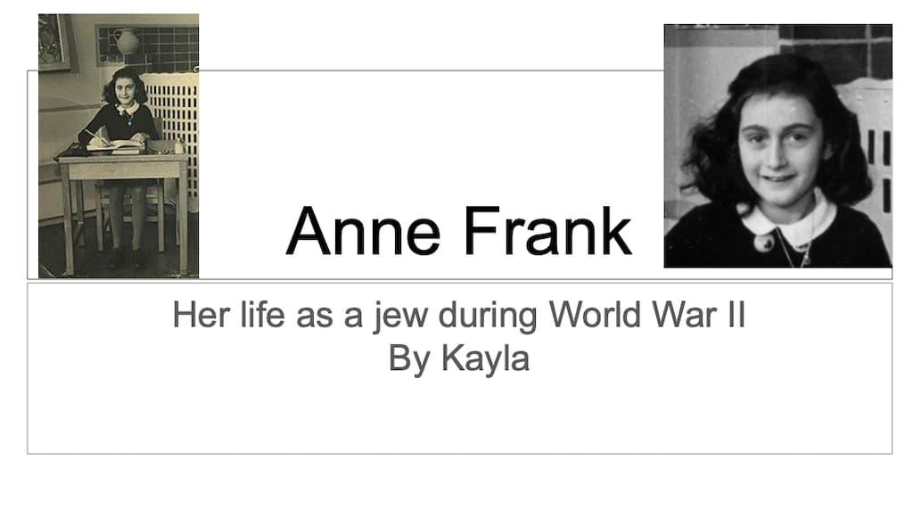 Anne Frank by Kayla