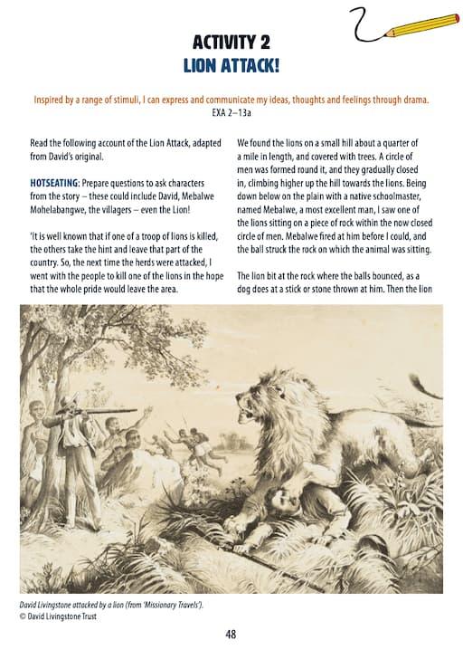 Lion Attack! Activity