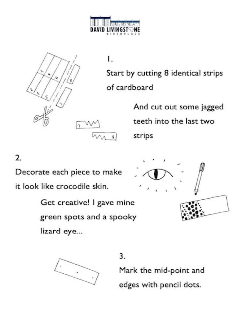 How To Make A Cardboard Snappy Crocodile Worksheet