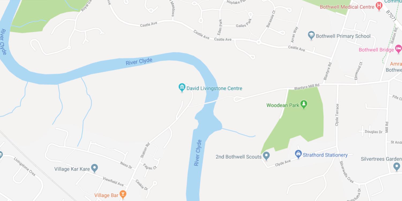 David Livingstone Birthplace Map