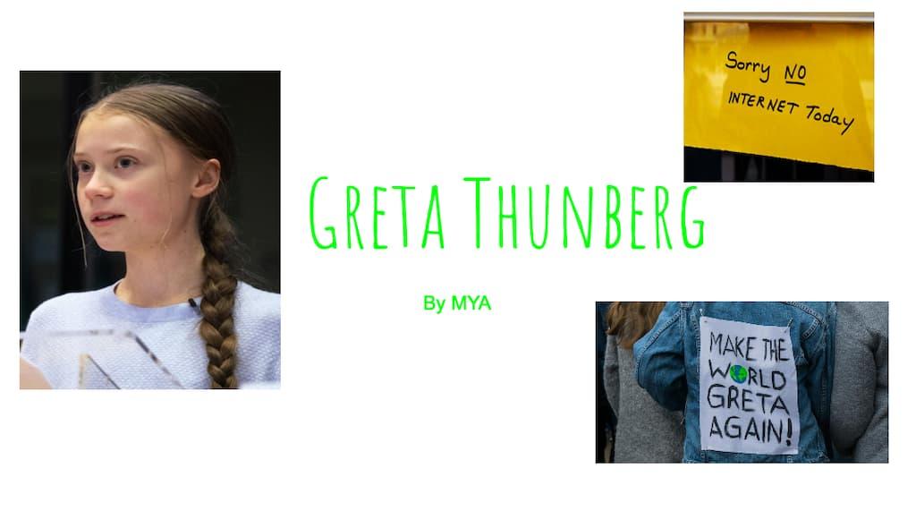 Greta Thunberg By Mya
