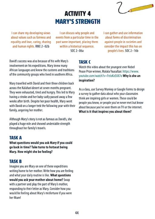 Mary's Strength Activity Worksheet (PDF)