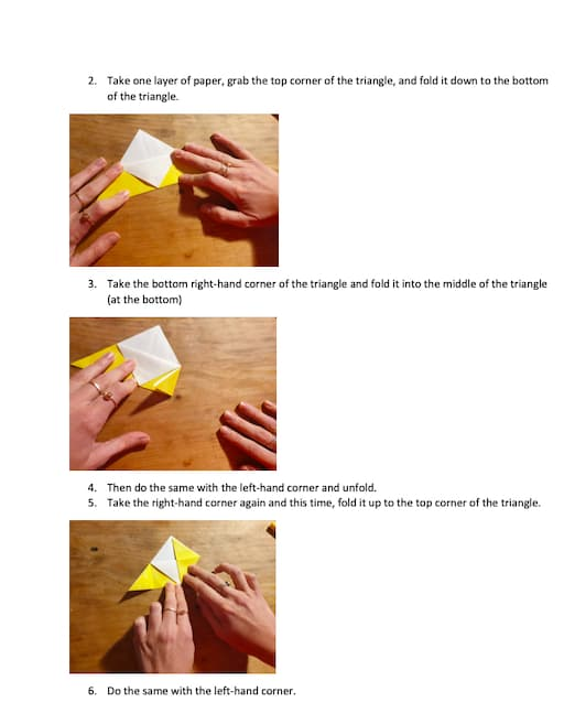Origami Lion Activity