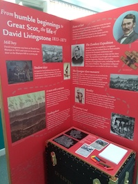 David Livingstone Pop Up Display