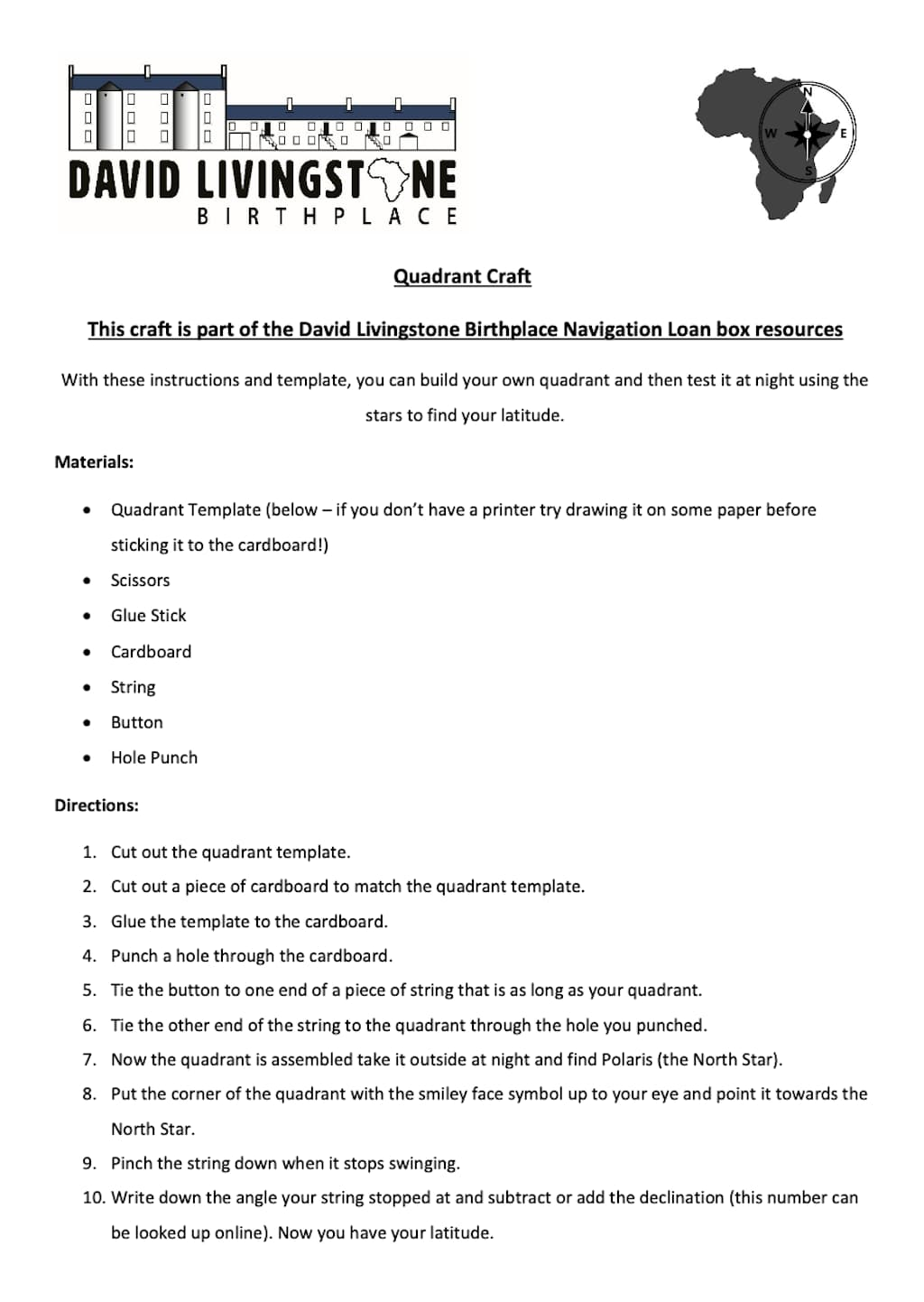 Preview of Quadrant Worksheet
