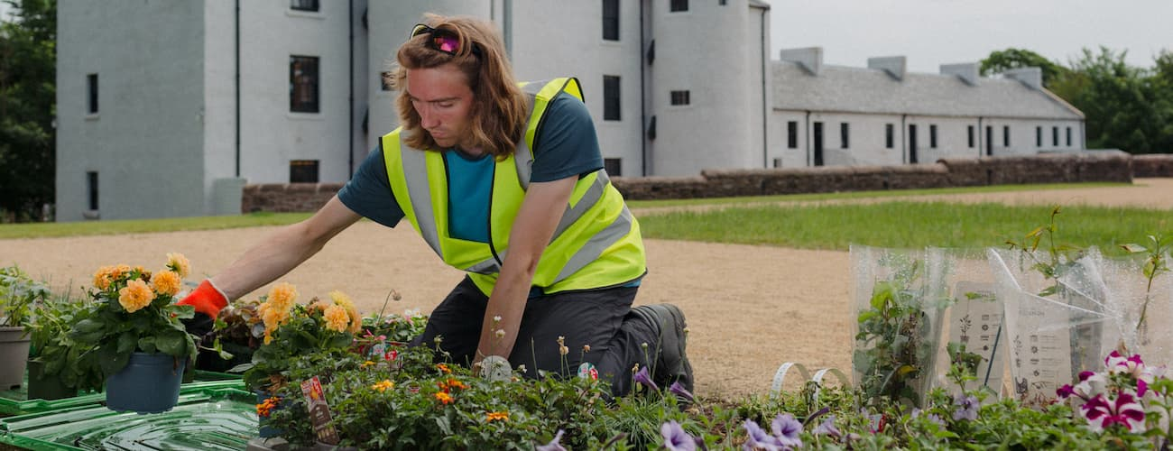 Volunteer working at David Livingstone Birthplace